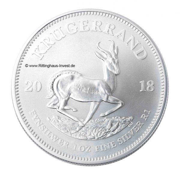 Krugerrand 1 Unze Silbermünze 2018 Springbock-Antilope Krügerrand 1 oz
