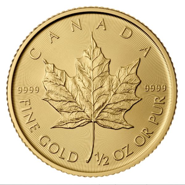 1/2 Oz Goldmünze Maple Leaf 0,5 Unzen Gold 9999 2017