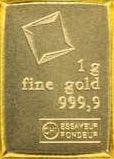1g Goldbarren 1 Gramm Gold 9999