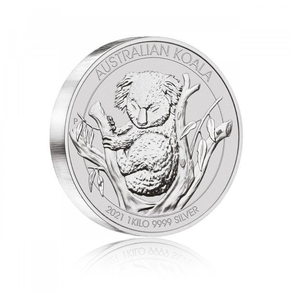 2021 1kg Australian Koala Silbermünze Kilo silver coin