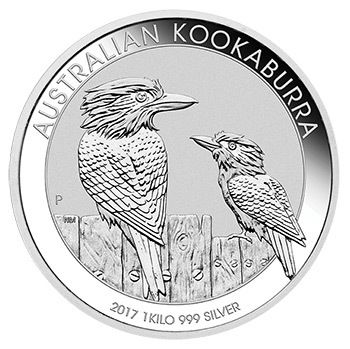 Silbermünze Australischer Kookaburra 2017 1Kilogramm 1kg 999 Silber 1