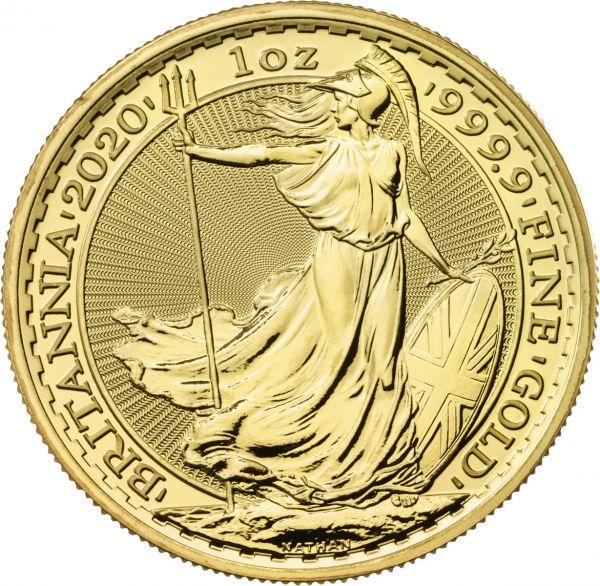 Britannia 2020 1 Unze Gold 1oz Goldmünze Coin 999.9 100 GBP