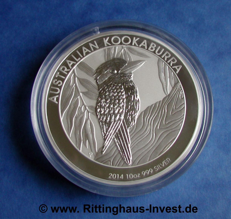Australian Kookaburra 2014 10oz Silver Coin