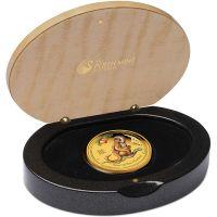 Lunar Monkey gold proof coloured affe farbig polierte platte box gold