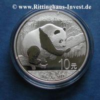 China Panda 30g 999 Silber 10 Yuan Silbermünze 2016