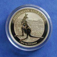 australian kangaroo goldmünze gold 1 oz 1 unze känguru perth mint