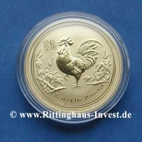 1/10 Unze Lunar II Goldmünze Hahn 2017 zentel Unze Gold