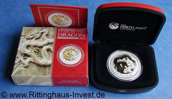 Lunar 2 Ii Drache 2012 Gilded Kaufen Vergoldet In Der Box