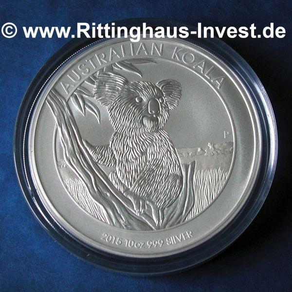2015 Koala 10 Oz Silbermünze 999 Silber 10 Unzen
