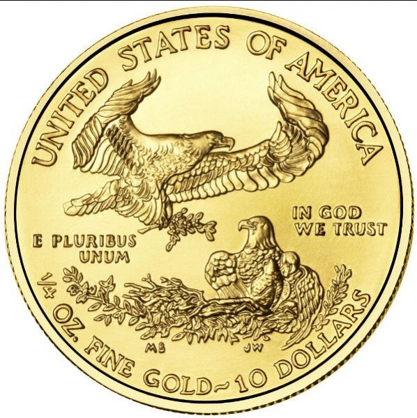 Goldcoin American Eagle 2019 14 Oz One Quarter Ounce Gold