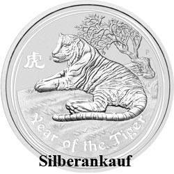 Ankauf Silbermünze Silbermünzenankauf Silber Bargeld Lunar II Tiger 2010