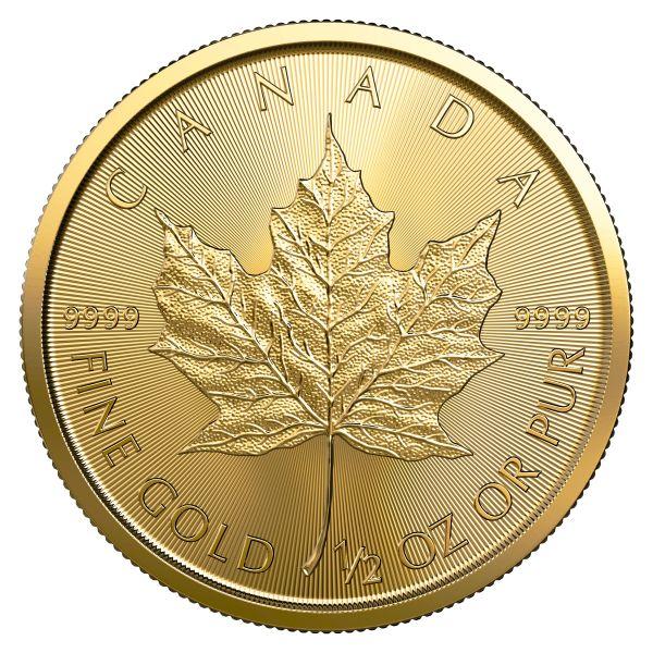 Maple Leaf 2019 halbe Unze Gold 9999 Royal Canadian Mint 1/2oz 20$