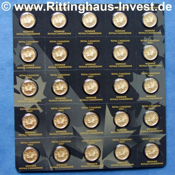MapleGram Maple Leaf Gold 9999 25 1g Goldmünze goldcoin