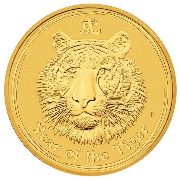 Lunar II Tiger 2010 1 Unze Goldmünze gold coin 1oz Perth Mint