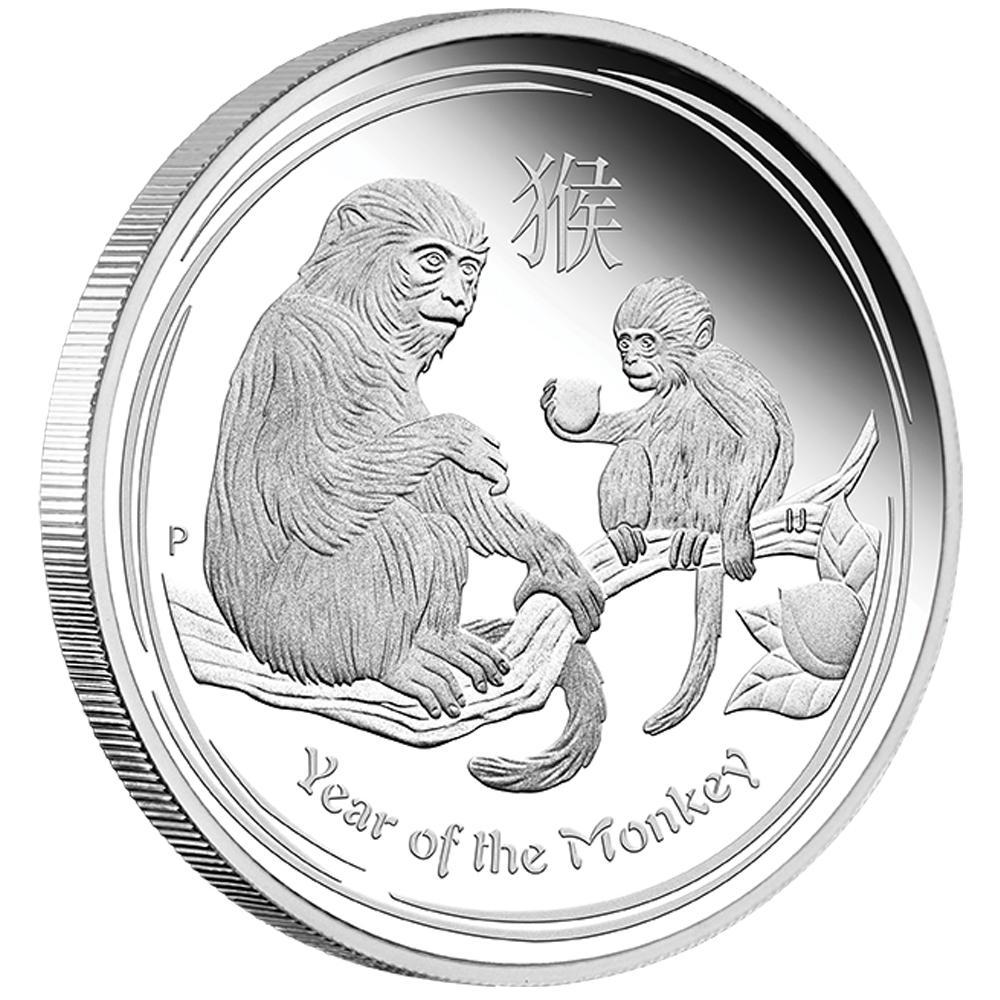 Lunar Ii Affe Typeset 2016 Silberm 252 Nzen Set Jahr Des Affen