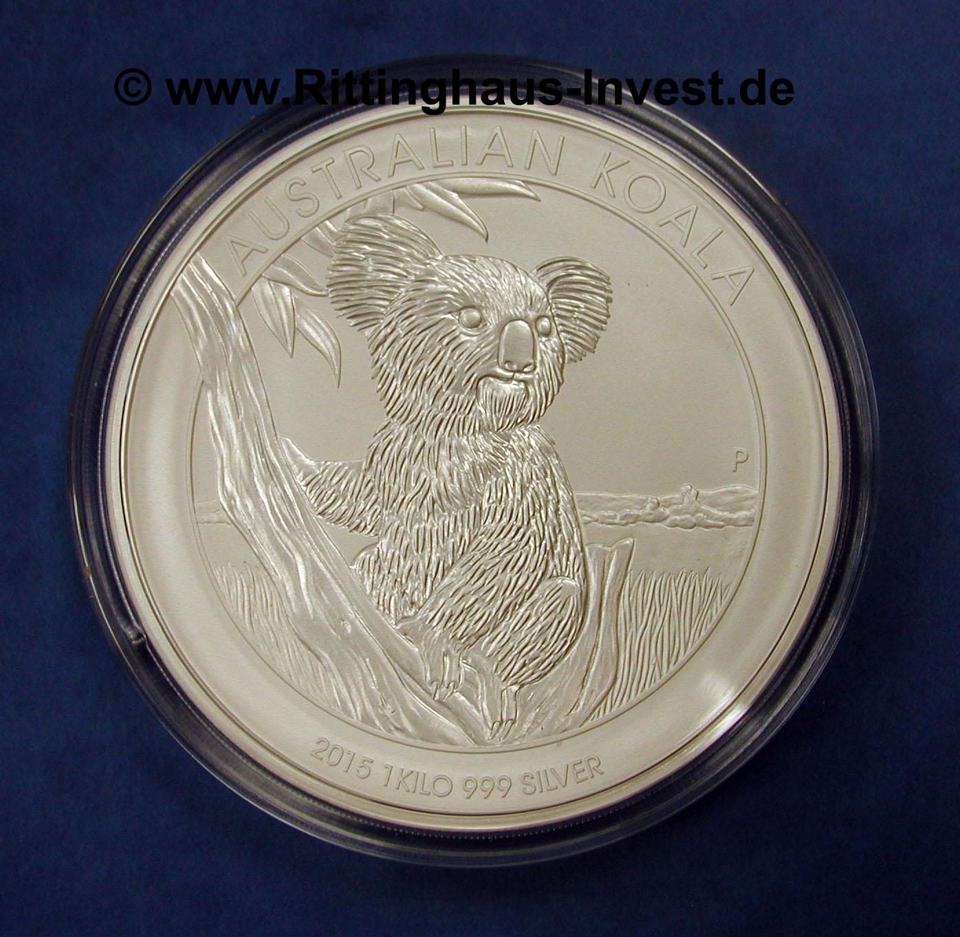Koala 2015 Silberm 252 Nze 1 Kg Silber 999 Feinsilber Australien