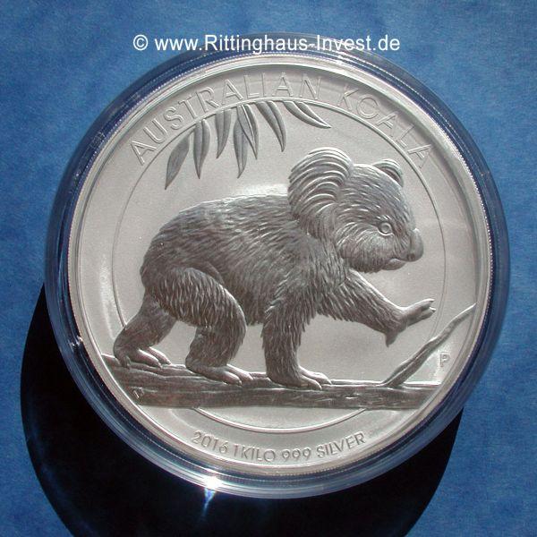 Australian Koala 2016 1kg Silbermünze 999 Feinsilber Australien
