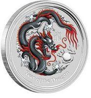 Lunar II Drache 2012 Schwarz Black World Money Fair Berlin the Perth Mint dragon black 1$