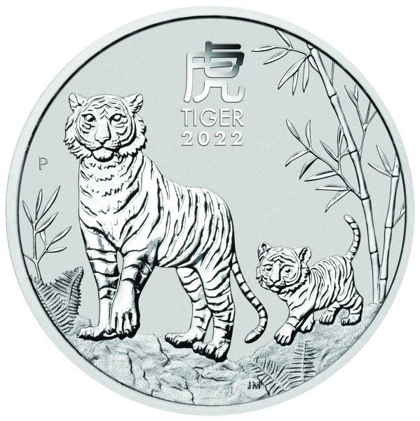 Lunar III Tiger 2022 1kg Silbermünze 1 kg Silber Jahr des Tiger