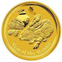 Lunar II Hase 1 Unze Gold 1oz Goldmünze 2011 Perth Mint Australia rabbit coin