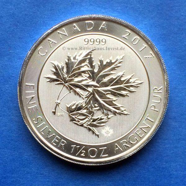 Multi Maple Leaf 2017 1,5oz Silbermünze Super Leaf Multileaf