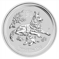 Lunar II Hund 2018 1 Unze Silbermünze