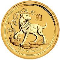 Lunar Hund zehntel Unze Goldmünze 2018